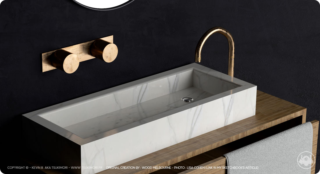 Salle de bain - Cinema 4D - Featured