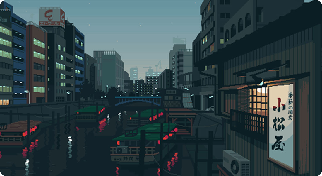 La vie quotidienne japonaise en Pixel Art - Featured