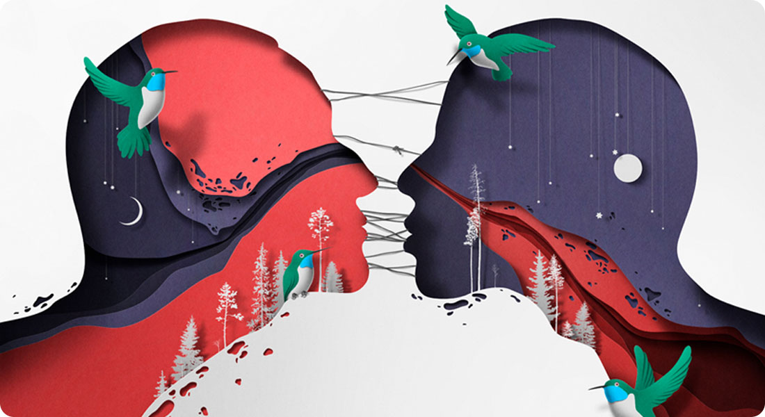 Découvrez les illustrations en papier découpé de Eiko Ojala
